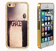 el brillo brillo híbrido de diseño de lujo bling de la gracia con la caja de diamantes de imitación de cristal para el iphone 5 / 5s