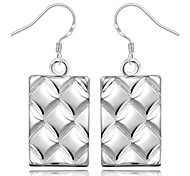 Women's Gorgeous Square 925 Silver Plated Earrings