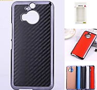Kemile Carbon Fabric Hard Electroplate Plastic Frame Phone Bag Cover for HTC M9 plus (Assorted Colors)