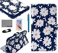 coco Fun® pink lila Eulenmuster PU-Lederetui mit Film-und USB-Kabel und Stift für Samsung-Galaxie s6 Rand
