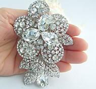Wedding Accessories Silver-tone Clear Rhinestone Crystal Bridal Brooch Wedding Bouquet Wedding Deco Flower Brooch