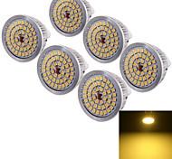 Focos Decorativa YouOKLight MR16 GU5.3 6.5 W 48 SMD 2835 600 LM Blanco Cálido DC 12 V 6 piezas