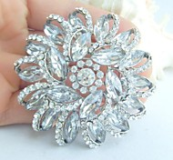 Wedding Accessories Silver-tone Clear Rhinestone Crystal Bridal Brooch Wedding Deco Bridal Bouquet Women Jewelry