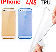 Through Color TPU Case for iPhone4/4S