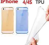 attraverso il caso di tpu colore per iphone4 / 4s