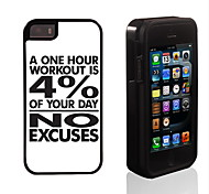 One Hour Design 2 in 1 Hybrid Armor Full-Body Dual Layer Shock-Protector Slim Case for iPhone 5/5S