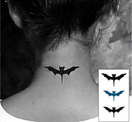 Terror Halloween Bat Totem Tattoo Stickers Temporary Tattoos(1 Pc)