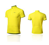 SPAKCT Bike/Cycling Tops Men's Short Sleeve Breathable / Reflective Strips 100% Polyester Classic / Slim Yellow / Green / Blue / OrangeS