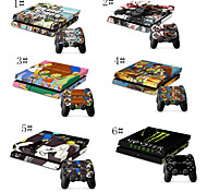 Sci Fi and Cartoon Fantasy Designer Vinyl Skin for Gaming Console and Free Controller Sticker Decal for PS4