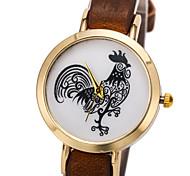 cadran rond cas montre de tissu la montre à quartz marque de mode des femmes (plus de couleurs disponibles)