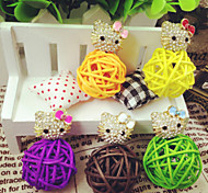 Special Design Butterfly Anti-dust Earphone Jack for iPhone/iPad and Others(Random Color)
