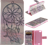 Windbell Design PU Leather Stand Case with Card Slot for Wiko Lenny
