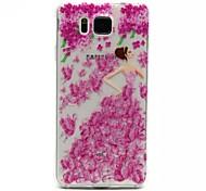 Reliefmalerei Blumenmädchen Muster 0,2 slim TPU Schutzschale für Samsung-Galaxie alpha G850
