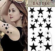 Waterproof Black Star Pattern Tattoo Stickers*1pc