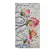 Diamond Love Letter Patterns Wallet Card General PU Leather Full Body Case for Gionee Elife E6