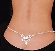 Belly navel chain Fashion Woman Chain Heart and Butterfly Dance Waist Navel Chain Bikini Body Chain