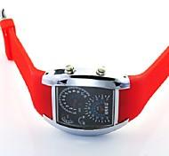 mode led instrumentenpaneel plastic horloge (rood) (1 st)