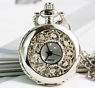 Women's European Round Dial Fashion Quartz Necklace Watch Pocket Watch Cool Watches Unique Watches