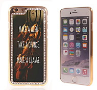 Wish Chance and Change Design Luxury Hybrid Bling Glitter Sparkle With Crystal Rhinestone Case for iPhone 6