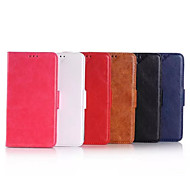 For Nokia Case Wallet / Card Holder / with Stand Case Full Body Case Solid Color Hard PU Leather Nokia