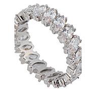 Жен. Массивные кольца Любовь Pоскошные ювелирные изделия Свадьба бижутерия Циркон Драгоценный камень Искусственный бриллиант Бижутерия