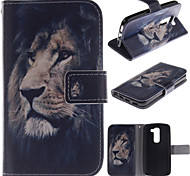 LG G2 mini PU Leather Full Body Cases / Cases with Stand Graphic case cover