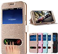 fenêtres de motif de soie voir en cas de corps pour Samsung Galaxy i9600 s5 (de couleurs assorties)