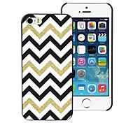 weiß schwarz goldenen Streifen-Design Aluminium-Hülle für das iPhone 4 / 4s