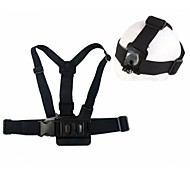 A Model Chest Band with B model Head Band, for GoPro Hero3+/3/2/1