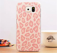 Pink leopard Pattern Dermatoglyph Plastic Hard Back Cover for Samsung Galaxy S6 edge
