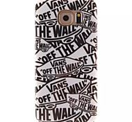 For Samsung Galaxy Case IMD Case Back Cover Case Word / Phrase TPU Samsung S6