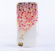 Balloon Pattern Embossed Painted Thin Transparent TPU Material Mobile Shell for HTC M8
