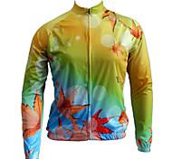 tops ( Dourado Escuro ) - de Ciclismo - Mulheres/Unissexo - Respirável/Design Anatômico/Anti-Insectos/wicking/Bolso TraseiroManga