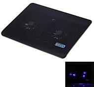 SHUNZHAN SZ280 LED Blue Book Super-Quiet Dual fan Base USB Laptop Cooler