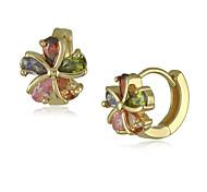 Fashion Flower Crystal Earrings