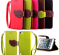 KARZEA™ Leaf Snap PU Full Body Case with TPU Back Cover Stand for iPod iTouch 5