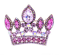 Women's Party Drop Crown Brooch Broach Pins Jewelry Rhinestone (More Colors)