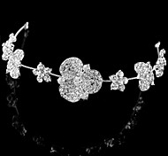 Luxurious Alloy Hand-made Flowers with Rhinestone and Crystal Wedding Bridal Headpieces