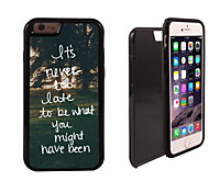 It's Never Too Late Design 2 in 1 Hybrid Armor Full-Body Dual Layer Shock-Protector Slim Case for iPhone 6