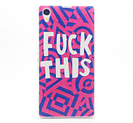 English Pattern Plastic Hard Back Case Cover for Sony Z1