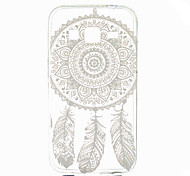 White Dream Catcher Pattern Ultrathin TPU Soft Back Cover Case for Samsung GALAXY CORE Prime G360