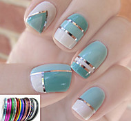 12PCS Mixs Color Coil Line Nail Stripe Tape Nail Art Decoration Sticker