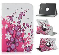 8 inch 360 graden rotatie wintersweet patroon stand case voor Samsung Galaxy Tab een 8,0 sm-T350 / T351