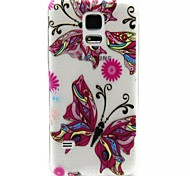 Relief Painting Colourful Butterfly Pattern 0.2 Slim TPU Protective Shell for Samsung Galaxy S5 Mimi