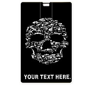 Personalized USB Flash Drive Skull Design 64GB Card USB Flash Drive