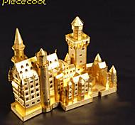 Нойшванштайн 3d стерео головоломки головоломки игрушка сборки металл здание модели совершеннолетние дети головоломки