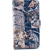 Old tree pattern 360 Degree Rotation PU Material Full Body Case for Samsung Galaxy S6