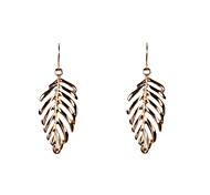 Fashion Women Polished Leaf Earrings