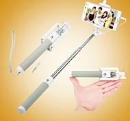 selfie com fio vara monopé handheld built-in do obturador extensível com suporte dobra para iPhone / samsung (cores sortidas)