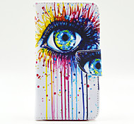 Augenmuster der Innen gemalt Karten Fall für Samsung Galaxy Note 4